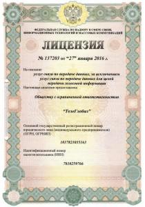 License 137203